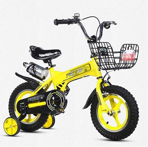 tiendas minoristas DT El Nuevo Carro de bebé Niño de la la la Bicicleta 12 14 16 Pulgada 2-3-4-6-7-8-9-10 años Bicicleta del Pedal del bebé (Color   amarillo, Tamaño   14 Inches)  tienda en linea