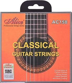 AC158-N Classical Guitar Strings Crystal Nylon & Carbon (G) Guitar String Set for Classical Guitars from 34 to 39 Inch