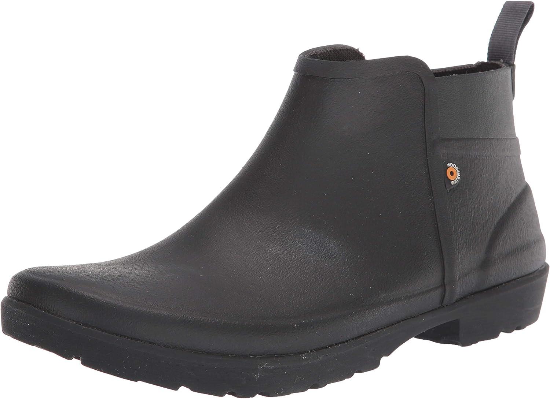 BOGS Men's Flora Bootie Waterproof Low Garden Rain Boot