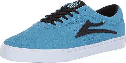 Lakai Footwear Sheffield Simon Light Blue/Black Suedesize Tennis Shoe, Light Blue/Black Suede