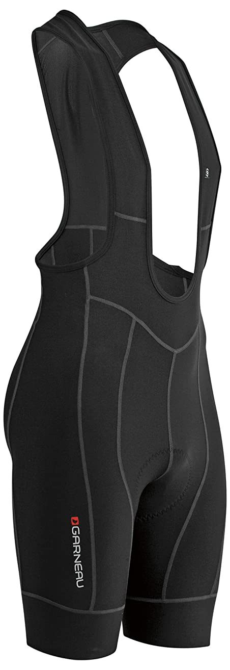 Louis Garneau Men's Fit Sensor 2 Cycling Bib, Padded and Breathable Compression Bike Shorts
