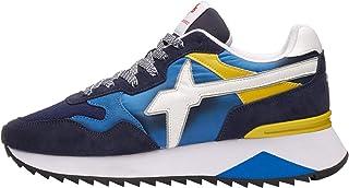 w6yz Yak-M.-Sneaker in Tessuto e Pelle-Blu