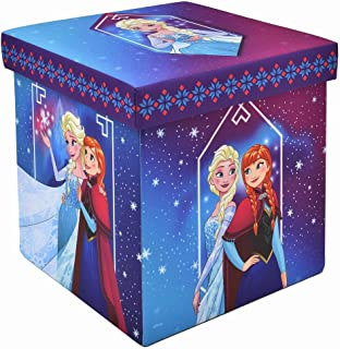 "Frozen Storage Ottoman, Officially Licensed, Sturdy 15"" Cube Footrest or Seat, Perfect for Playrooms"