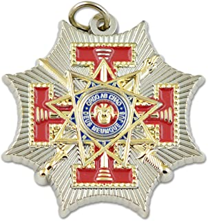 The Masonic Exchange 33rd Degree Scottish Rite Red & Gold Pendant - 1 1/4