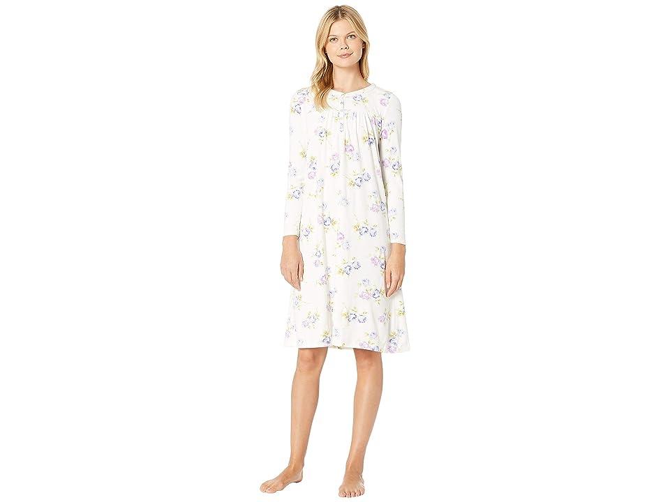 Carole Hochman Luxe Cozy Fleece Waltz Gown (Peri Roses) Women