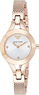 Emporio Armani Women's Quartz Watch, Analog Display and Stainless Steel Strap AR7362