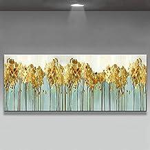 Handgeschilderd Olieverfschilderij - Eigentijds Mooi 3D Abstract 100% Handgeschilderd Bladgoud Olieverf Paletmes Textuur W...