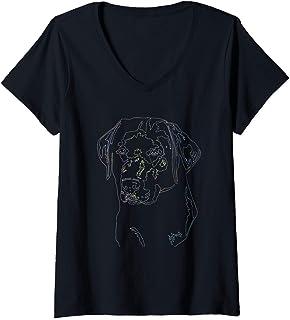 Womens Labrador Retriever Tshirt Labzilla Gift Puppy Lab Dog Tee V-Neck T-Shirt