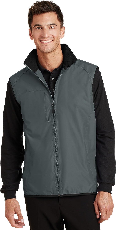 Port Authority Challenger Vest. J355 Steel Grey/True Black