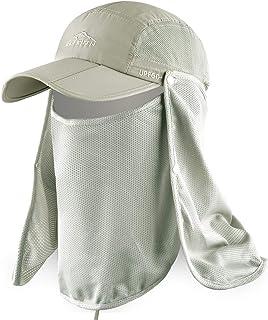 قبعة الصيد ELLEWIN للوقاية من أشعة الشمس بعامل حماية من أشعة الشمس 50+ قبعة التنزه في الهواء الطلق مع غطاء شبكي قابل للإزا...