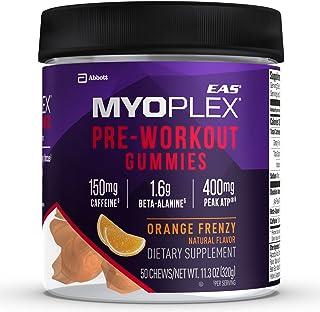 EAS Myoplex Pre-workout Gummies, Orange Frenzy, 50 Count