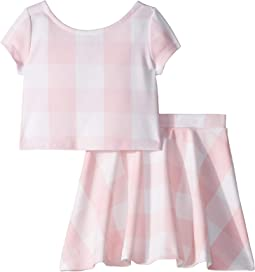 Gingham Top & Skirt Set (Toddler)