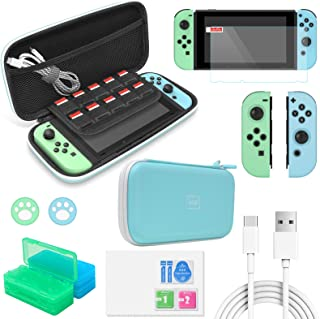 Accessories Kit Bundle for Switch,12 in 1 Essential Protection Kits with Carrying Case, Game Storage Case, Screen Protecto...