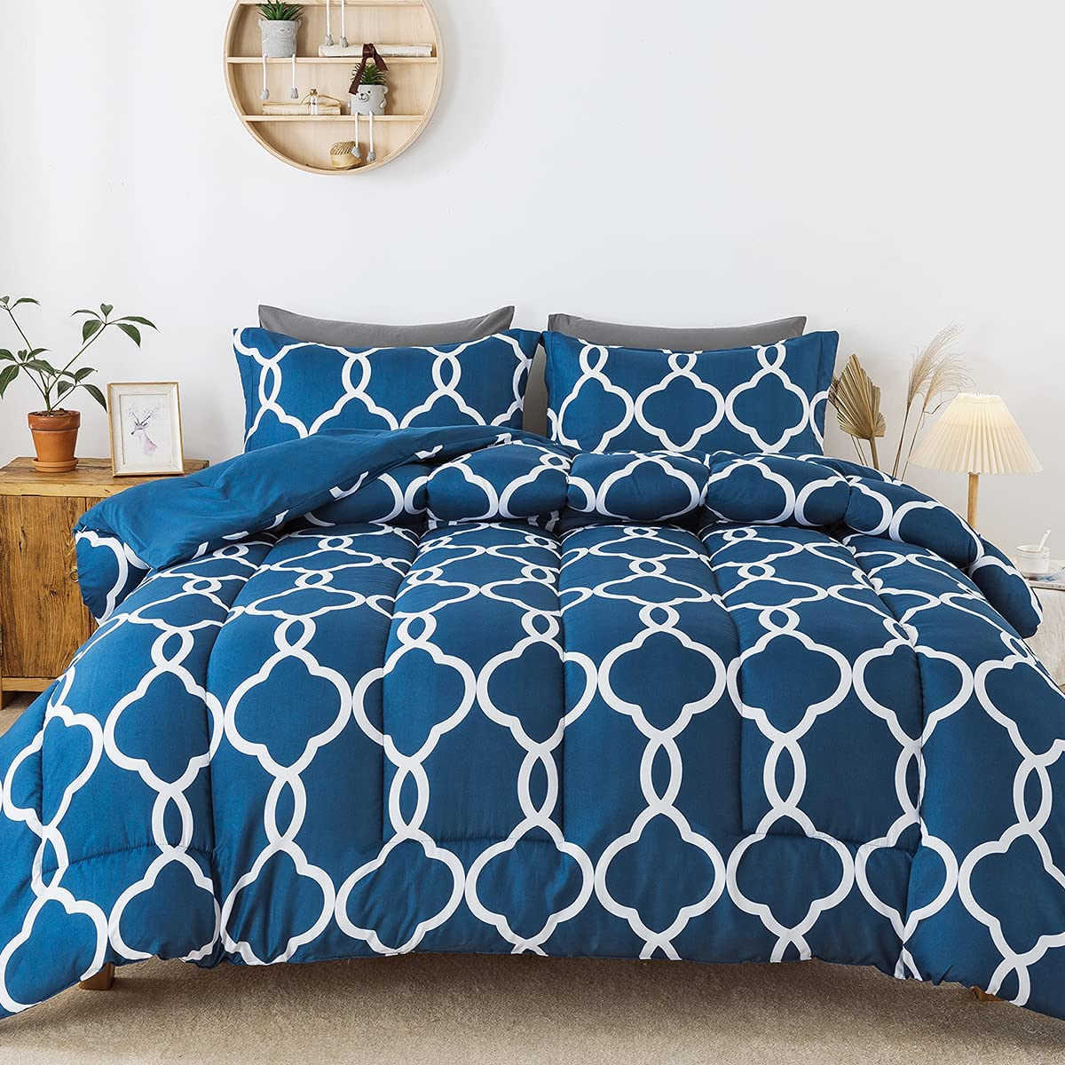 HYLEORY Printed Comforter Set Cheap sale Queen Size Shams Pillow Sale SALE% OFF R with - 2