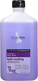 Everyday Isle of Dogs Lush Coating Dog Shampoo,Violet + Sea Mist for Poodles, Shepherds and Retrievers, 16.9oz