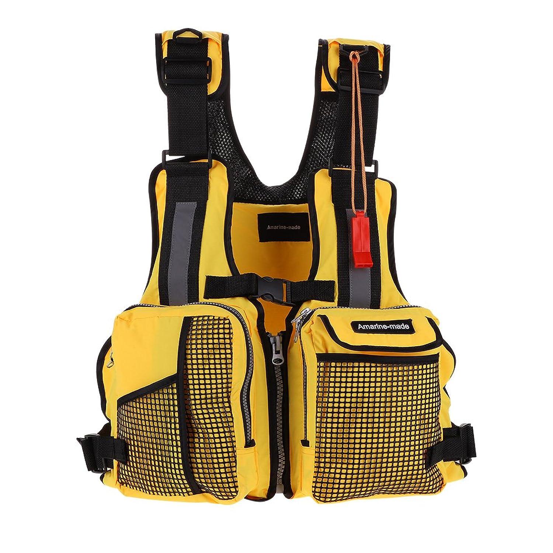 ライフジャケット 多機能 フィッシングベスト 釣り用ベスト バックパック 一体型 救命胴衣 フローティングベスト 収納力 水遊び 魚釣り 大人用