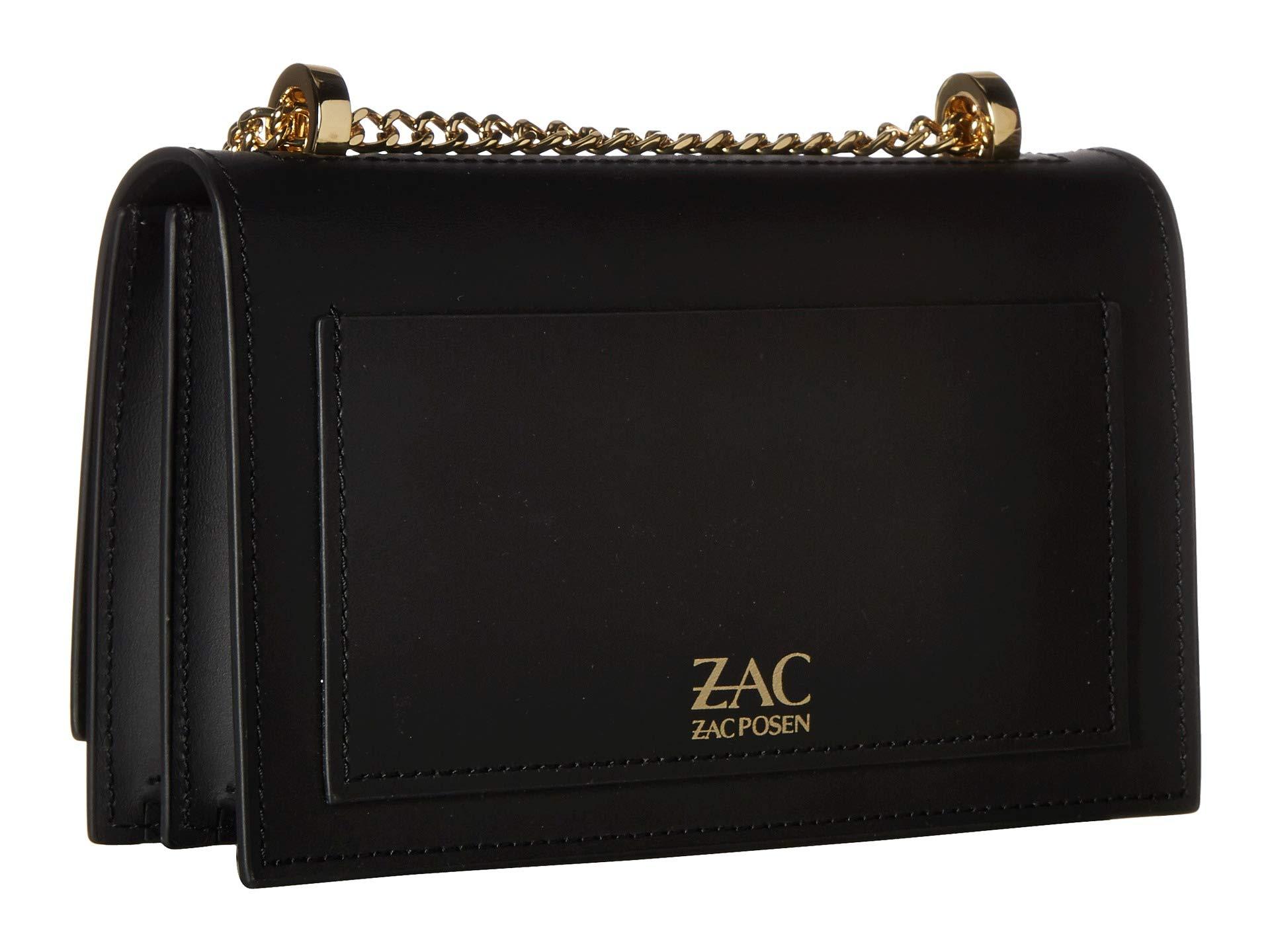 Posen Earthette Solid Black Small Zac Chain Shoulder zTdwxqTvZ
