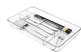 Plateau à couverts Lonian, organisateur de tiroirs pour le rangement des ustensiles dans la cuisine, plateau à cosmétiques...