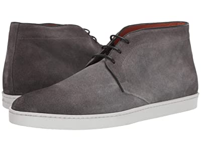 Santoni Leland Lace-Up Ankle Sneaker (Grey) Men
