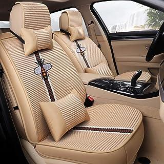 JKHOIUH Protector de cinturón de Seguridad a Prueba de Agua/Sudor - El Mejor Material Antideslizante Protector de Asientos de automóvil - Perfecto for Peugeot Volkswagen Hyundai General Motors Funda
