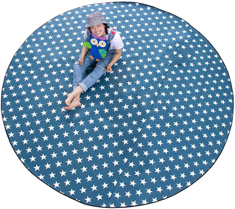 J.SPG Runde Picknickmatte Im Freien Ausflugblock Wildleder Kriechende Matte Aluminiumfolie Dickes Pad Stern Bltter Wasserdicht Oxford-Tuch 300cm Durchmesser