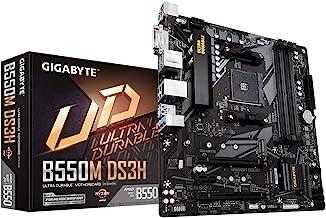 GIGABYTE B550M DS3H (AM4 AMD/B550/Micro ATX/Dual M.2/SATA 6Gb/s/USB 3.2 Gen 1/PCIe..
