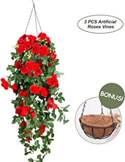 Best artificial garden hanging baskets Reviews