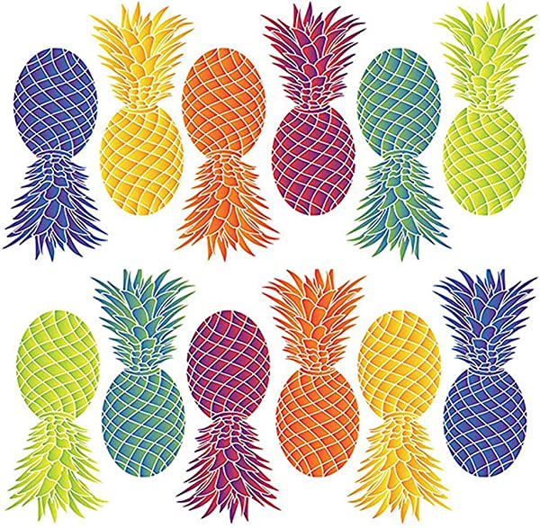 Pineapple Peel And Stick Wall Decals Variety Of Colors Set Of 12 By The Peel People