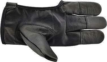 ALLNESS INC Premium Quality Genuine Leather Archery Glove Four Finger Bow Arrow Shooting Glove Hand Finger Guard Protector Glove