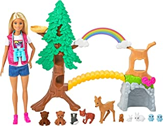 Barbie Wilderness Guide Interactive Playset with Blonde...
