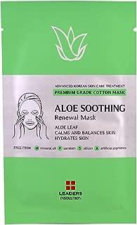 [LEADERS] Aloe Soothing Renewal Mask / Premium Grade Cotton Mask / Aloe Leaf - Calms and Balances Skin - Hydrates Skin / 1 Sheet Mask