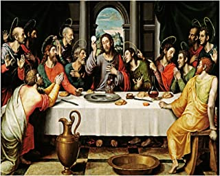 Hispanic World First Eucahrist - The Last T Supper - La Ultima Cena Juan de Juanes 16th Cent