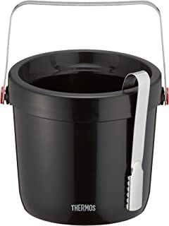 THERMOS(サーモス) 二重アイスペール ブラック TPE-1300 本体:ポリプロピレン ハンドル:ステンレス鋼 中国 PSC8301