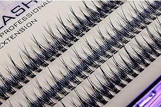Scala 120pcs 8mm/10mm/12mm/14mm/16mm to Choose Fish Tail Design 0.1 C Curl 3D Individual Mink False Eyelashes Extension Soft Black Fake False Eye Lashes (12mm)