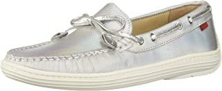 MARC JOSEPH NEW YORK Kids' Casual Comfort Slip on Moccasin Tie-Bow Loafer Driving Style