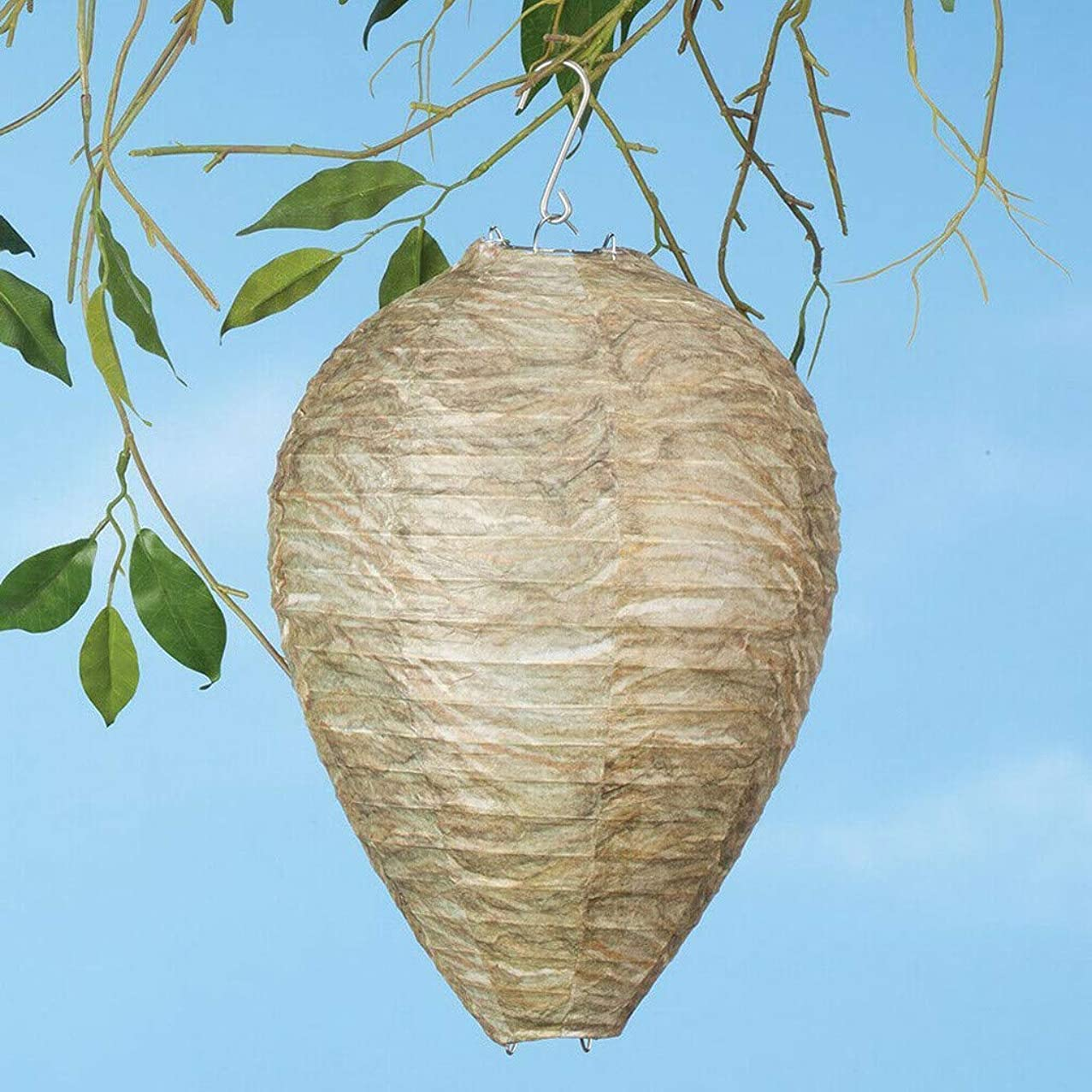 TTbuy Functional and Practical Wasp Deterrent Yellow Jackets Bee Hornets Fake Wasp Nest Simulated Deterrent, Simulated Wasp Deterrent Paper Nest Decoy, Yellowjackets Bee Hornets Fake Wasp