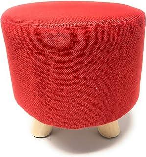 Beige Vetrineinrete/® Sgabello Rotondo Basso Morbido Imbottito poggiapiedi Pouf ottomana Seduta con 3 Piedi Antiscivolo sgabellino Vari Colori