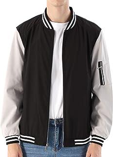 Best Mens Casual Lightweight Jacket Softshell Flight Bomber Jacket Varsity Coat Review