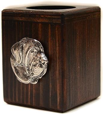 Fila Brasileiro, wooden candlestick with dog, limited edition, ArtDog