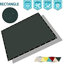 Coarbor Waterproof Shade Sail Rectangle Shade Cloth Replacement Cover for Pergola Gazebo Patio Shade with Grommets Straight Edge UV Block Shade Fabric Tarp Canopy Awning 8' x 12' Green