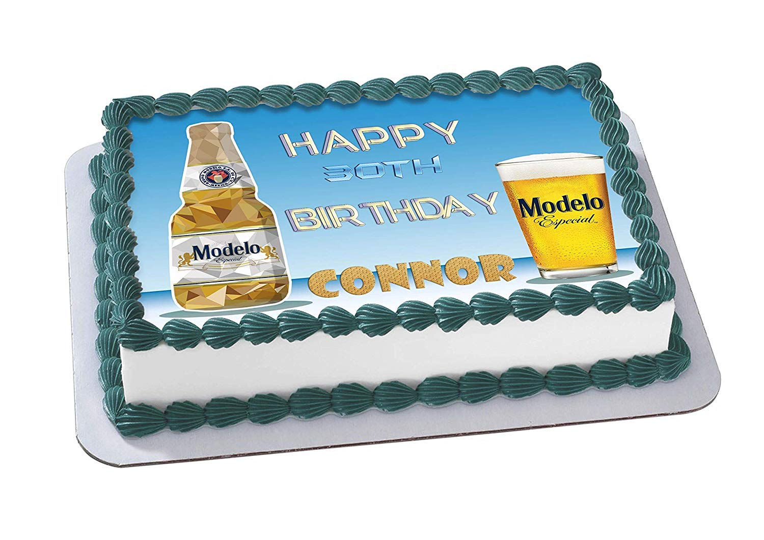 EdibleInkArt Modelo Especial Beer Edible Cake Topper Personalized Birthday 1/4 Sheet Decoration Custom Sheet Party Birthday on Wafer Rice Paper