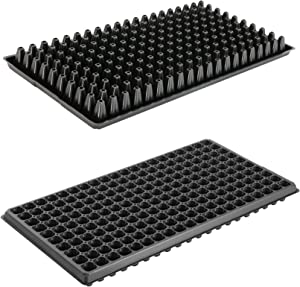 200 Cell, 10pcs-Pack Thick Durable Flats Vegetable Fruit Seeds Seedling Plastic Plug Nursery Trays (GGBQ200, 10/20)
