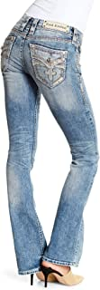 Womens Luz Crystal Embellished Boot Cut Jeans