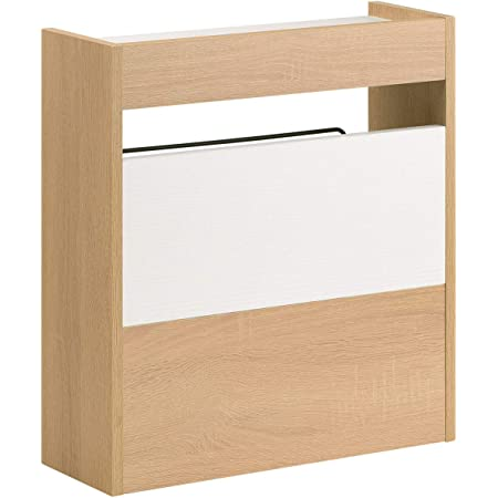 サンワダイレクト ケーブルボックス 木製 幅40cm 高さ45cm ケーブル ルーター 収納ボックス ライト木目 200-CB022LM