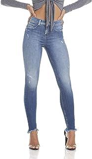 9c612b8c0 Calça Jeans Feminina Skinny Média Cigarrete com Rasgos Denim Zero - DZ2907