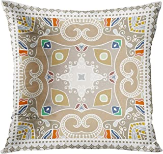 Suklly Throw Pillow Cover Square 16x16 Inch Abstract Colorful Geometric Floral Pattern Ornate Lace Tribal Ethnic Cushion H...