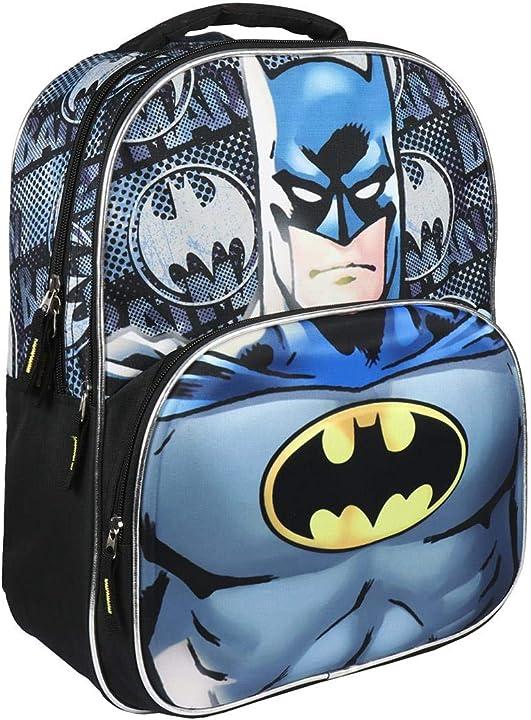 Zaino batman artesania cerda mochila escolar 3d batman zaino 41 cm grigio (gris) 2100002561