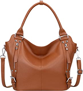 Sponsored Ad - OVER EARTH Genuine Leather Handbags for Women Hobo Shoulder Bag Ladies Leather Tote Bag