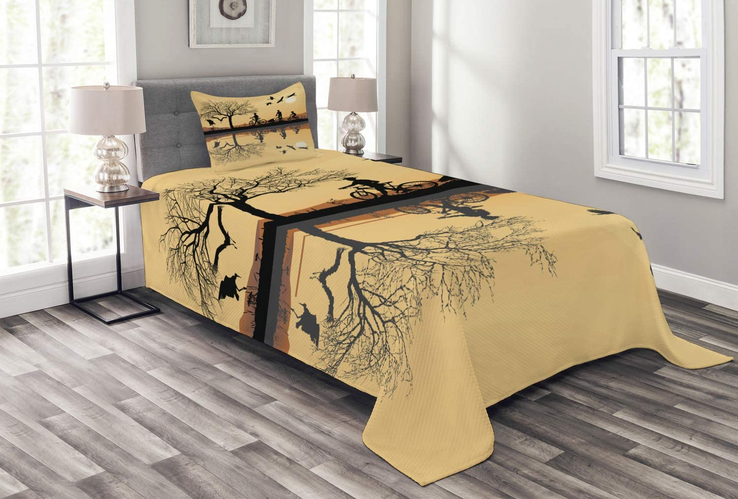 Ambesonne Mountain Bedspread Silhouette Ranking TOP11 5 ☆ popular of a Family Strokes and