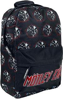 Motley Crue Backpack Bag Heavy Metal Power Band Logo Official Rocksax Black